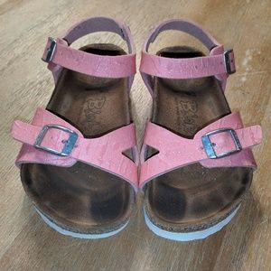Birkenstock pink sparkle sandals girls 10 11 shoes